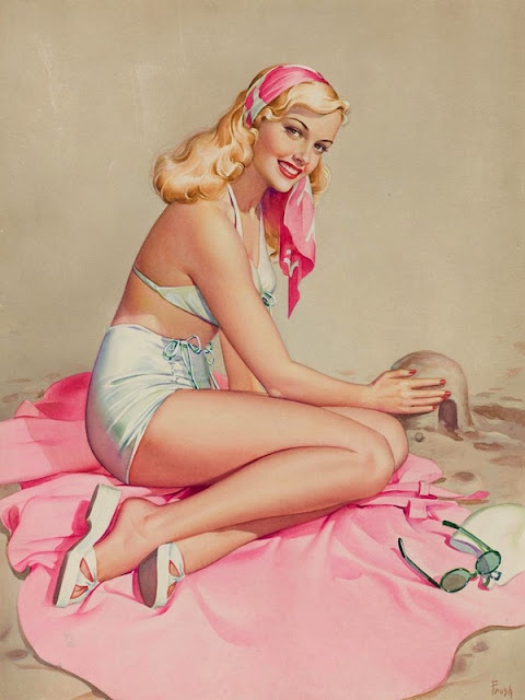 Vintage Paintings of Beautiful Woman's 39