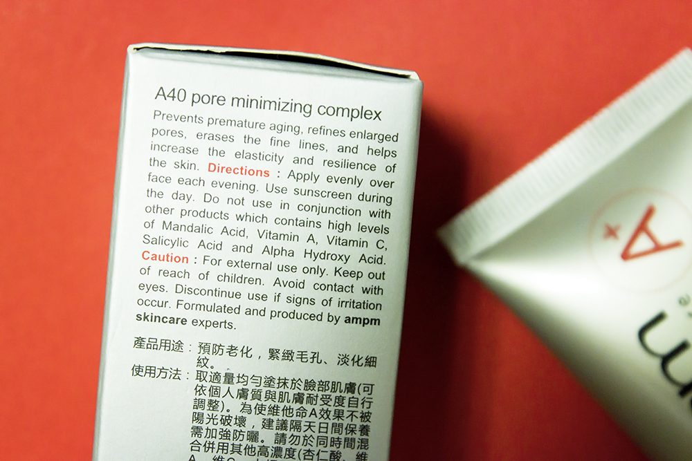 Naruko am+pm A40 Pore Minimizing Complex directions
