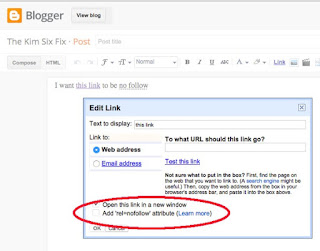 add 'rel=nofollow' on blogger