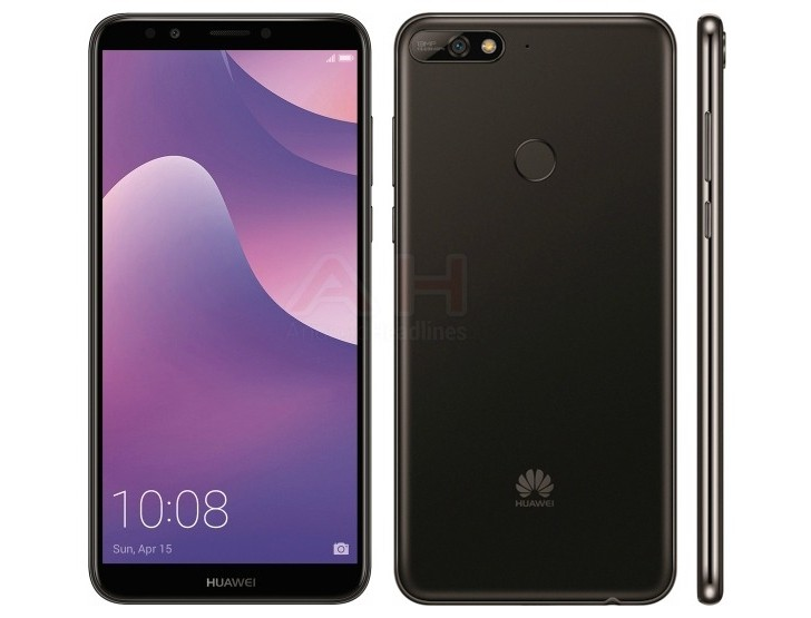 Leaked render of Huawei Y7 (2018) shows some of the things to expect