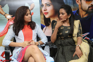 Actress Suma in Black Salwar Suit and Anusuya in orange Dress at winner movie press meet part 2 February 2017 (55).JPG