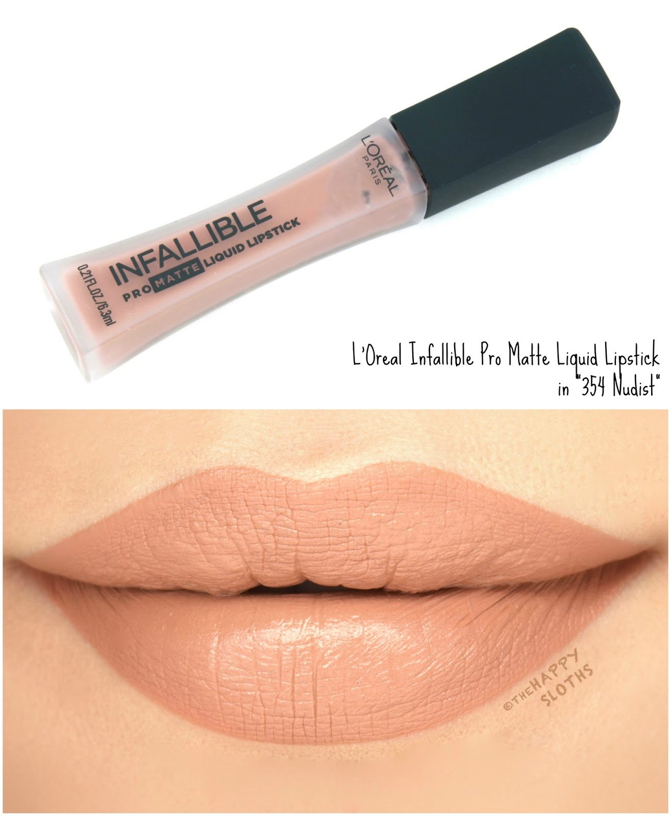 "L'Oreal Infallible Pro Matte Liquid Lipsticks ""354 Nudist"": Review and Swatches"