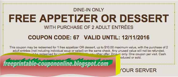 Olive garden coupon codes 2018