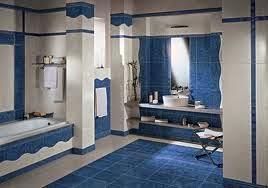 baño decorado con azul