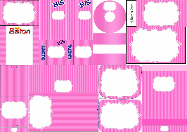 Pink Stripes: Free Printable Candy Bar Labels.
