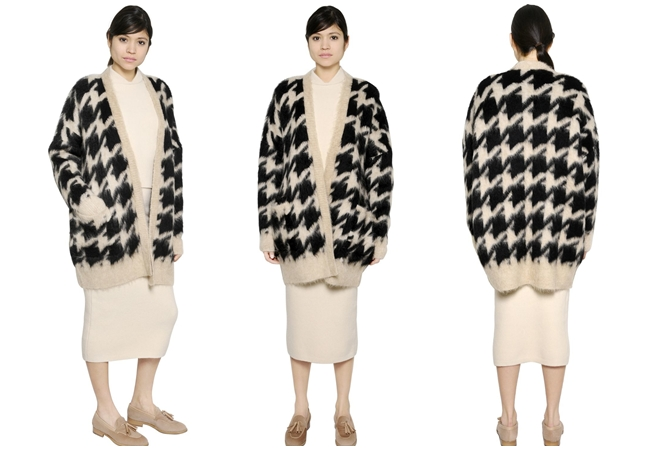 Max Mara 2015 AW Mohair Houndstooth Cardigan