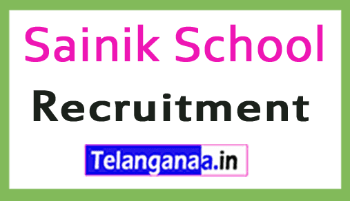 Sainik School Recruitment Notification