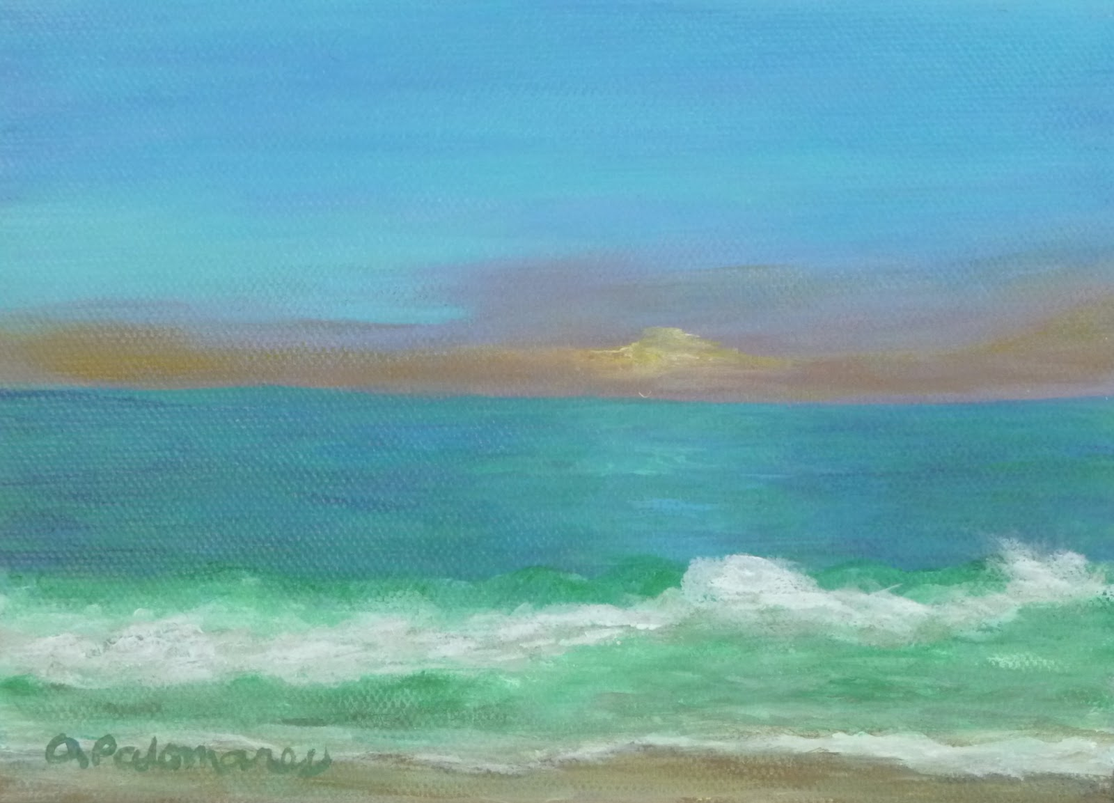Beach Sunset Painting | Amber Palomares Coastal and Nature ...