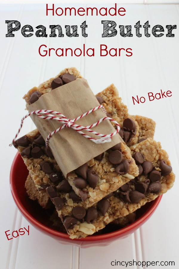 Homemade Peanut Butter Granola Bars from Cincy Shopper