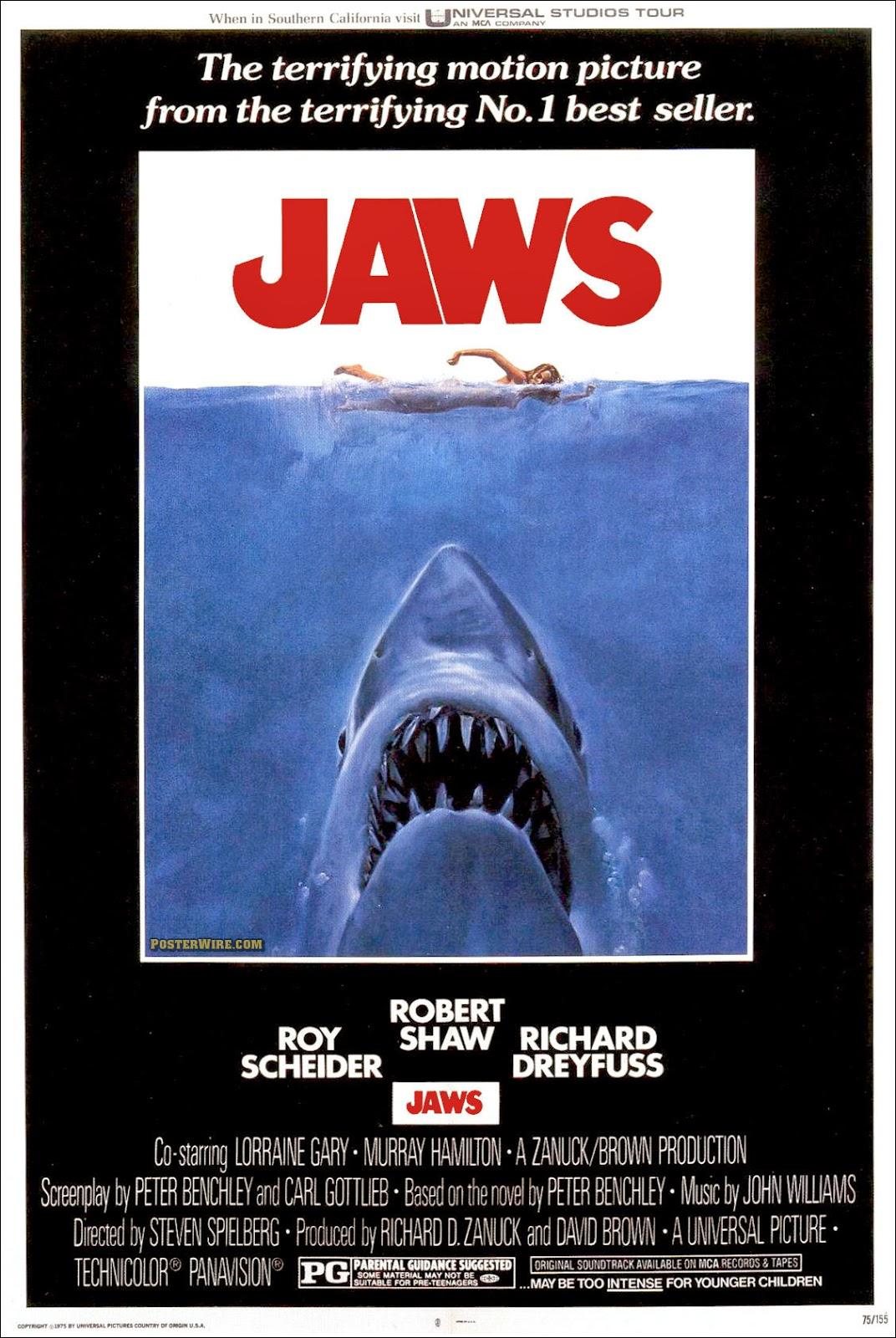 Steven Spielberg Tiburón cartel