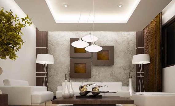 model lampu plafon ruang tamu sederhana