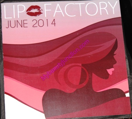 Lip Factory June 2014 beauty box review, unboxing