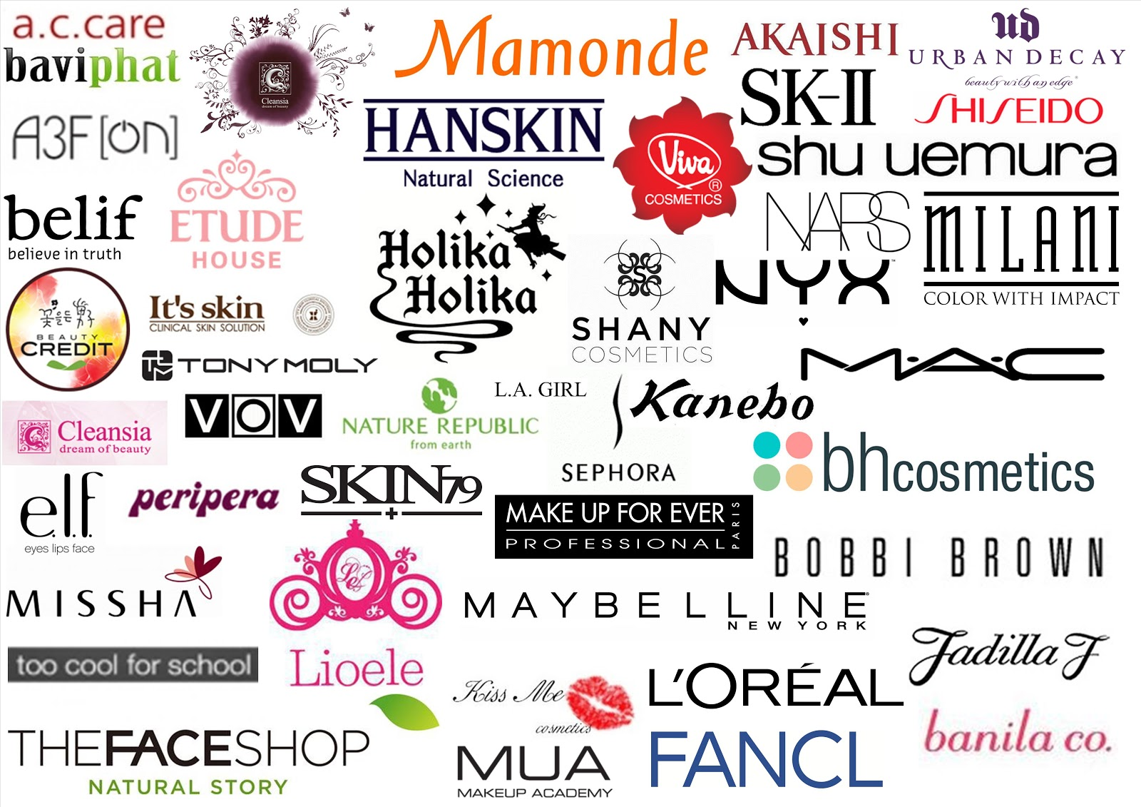 Promising Beauty: Battle of the Drugstore Make-up Brands ...  |Beauty Brand Logos