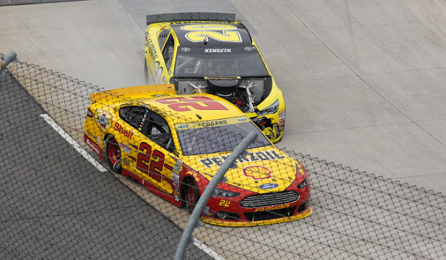 Logano and Kenseth