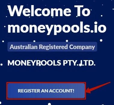 Регистрация в Moneypools