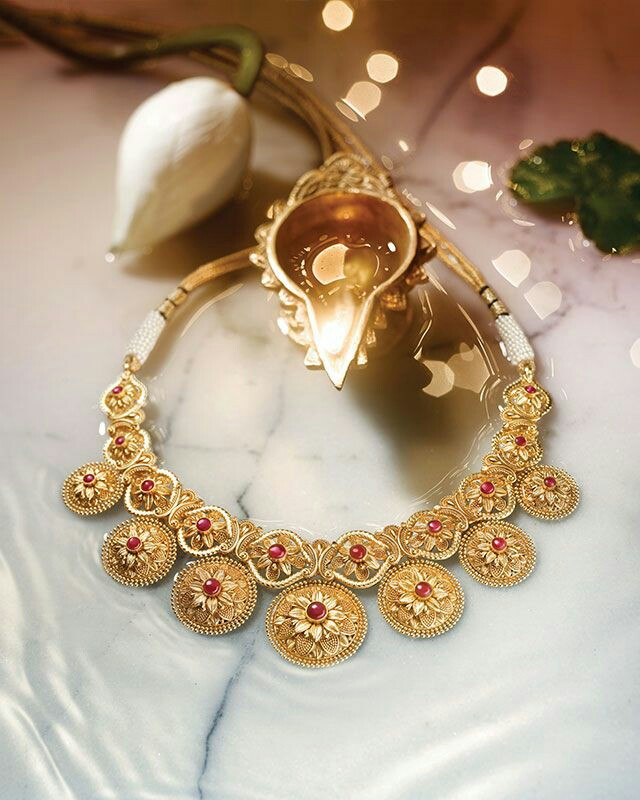 Tanishq Divyam gold necklace designs - Latest Jewellery Design for ...