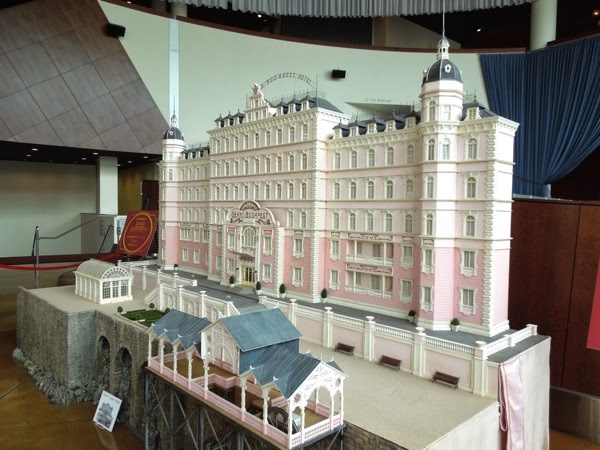 Grand Budapest Hotel film model exhibit