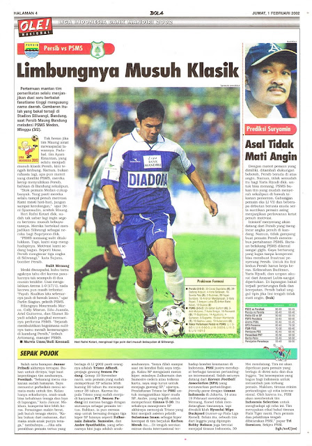 LIGA INDONESIA BANK MANDIRI 2002:  PERSIB VS PSMS