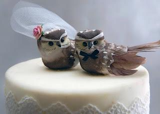 Perfect Owl Birds Wedding Cake Topper