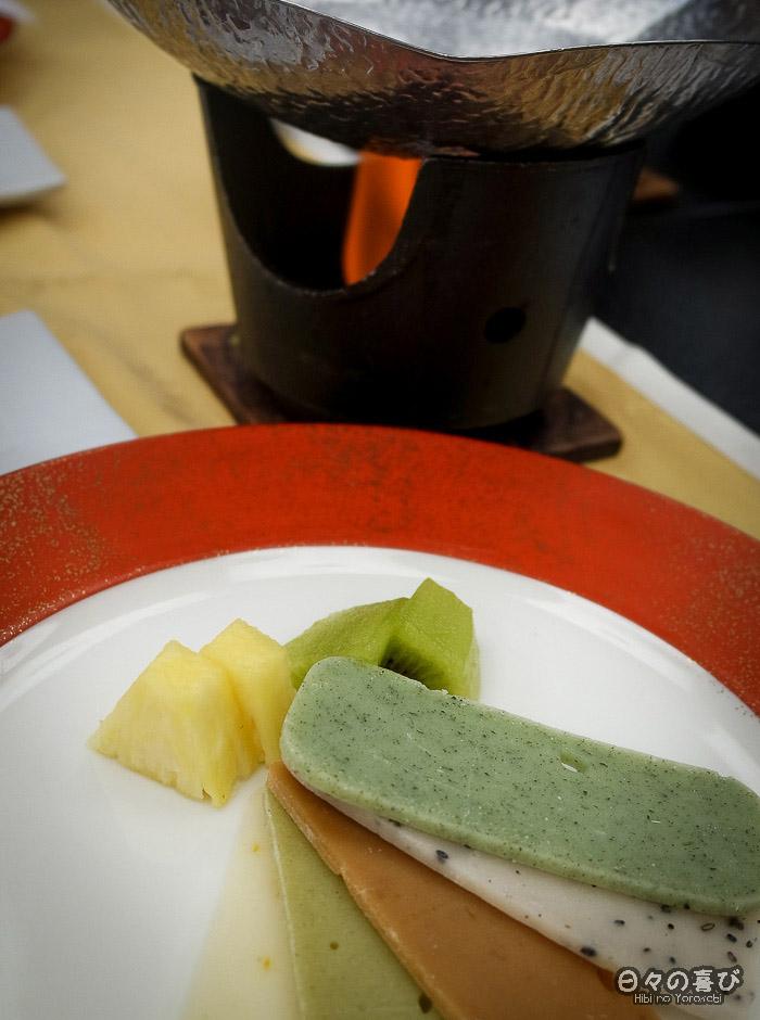 mochi shabu et fruits
