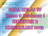 Soal Tema 9 Subtema 1 Kelas 4 SD Kurikulum 2013 Lengkap Kunci Jawaban
