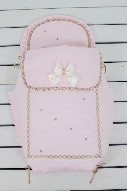 Saco carrito Bebecar IpOp rosa beige camel
