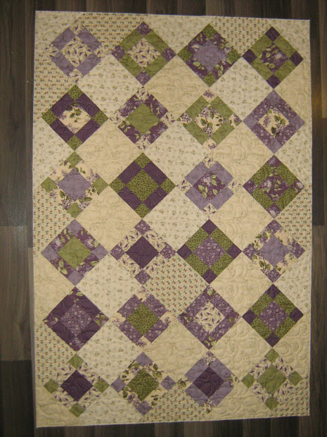 Quilting Lilac Baby Quilt