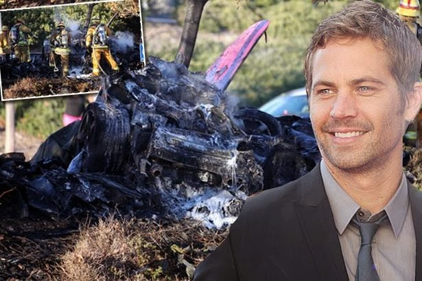 Burst Paul Walker car accident spot