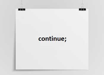 continue en el lenguaje c