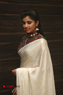 Actress Syamala Pictures in Saree at Hyper Movie Trailer Launch 0058