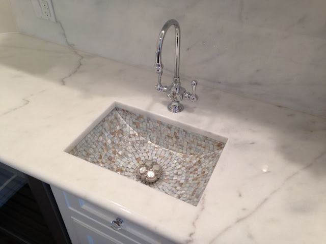 lavabo đá marble trắng ý