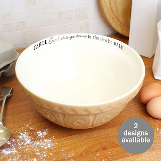 Personalised Ceramic Mixing Bowl - £27.95, 2 designs available
