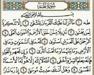 Teks Bacaan Surat Toha Arab Latin dan Terjemahannya