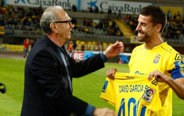 David García iguala los 453 partidos en UD Las Palmas de Germán Dévora