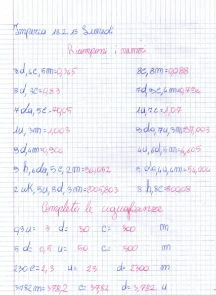 Famoso didattica matematica scuola primaria: I numeri decimali: esercizi  HJ43