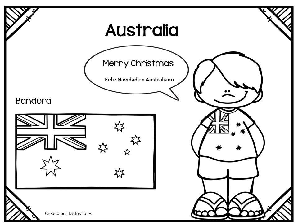 Vistoso Navidad Australiana Para Colorear Imagen - Dibujos Para ...