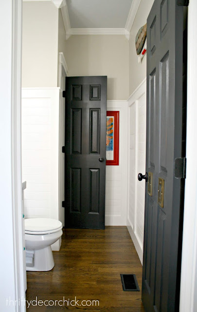 How to paint interior doors black