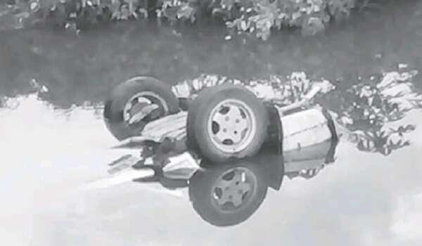 Kereta Terjunam Ke Dalam Sungai Mas, Tatau - Seorang Maut, Tiga Cedera