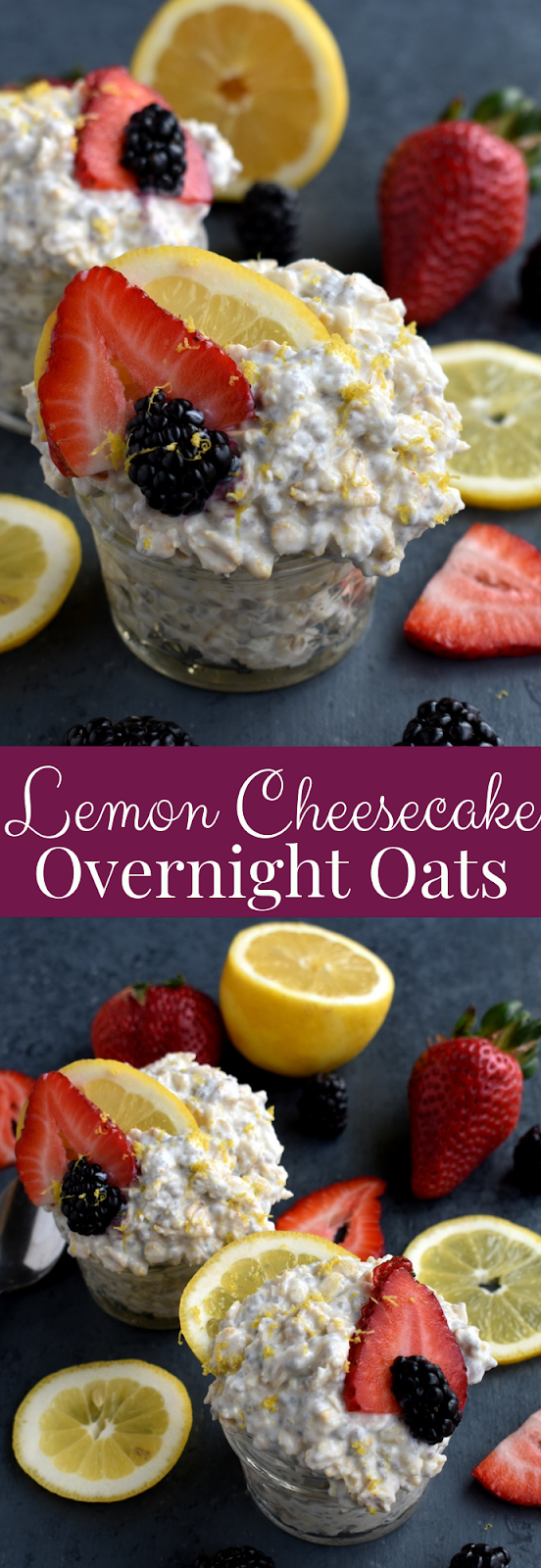 Lemon Cheesecake Overnight Oats recipe