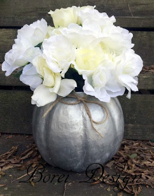 bucket container flower vase how to make paper mache pumpkin tutorial diy fall halloween thanksgiving crafts
