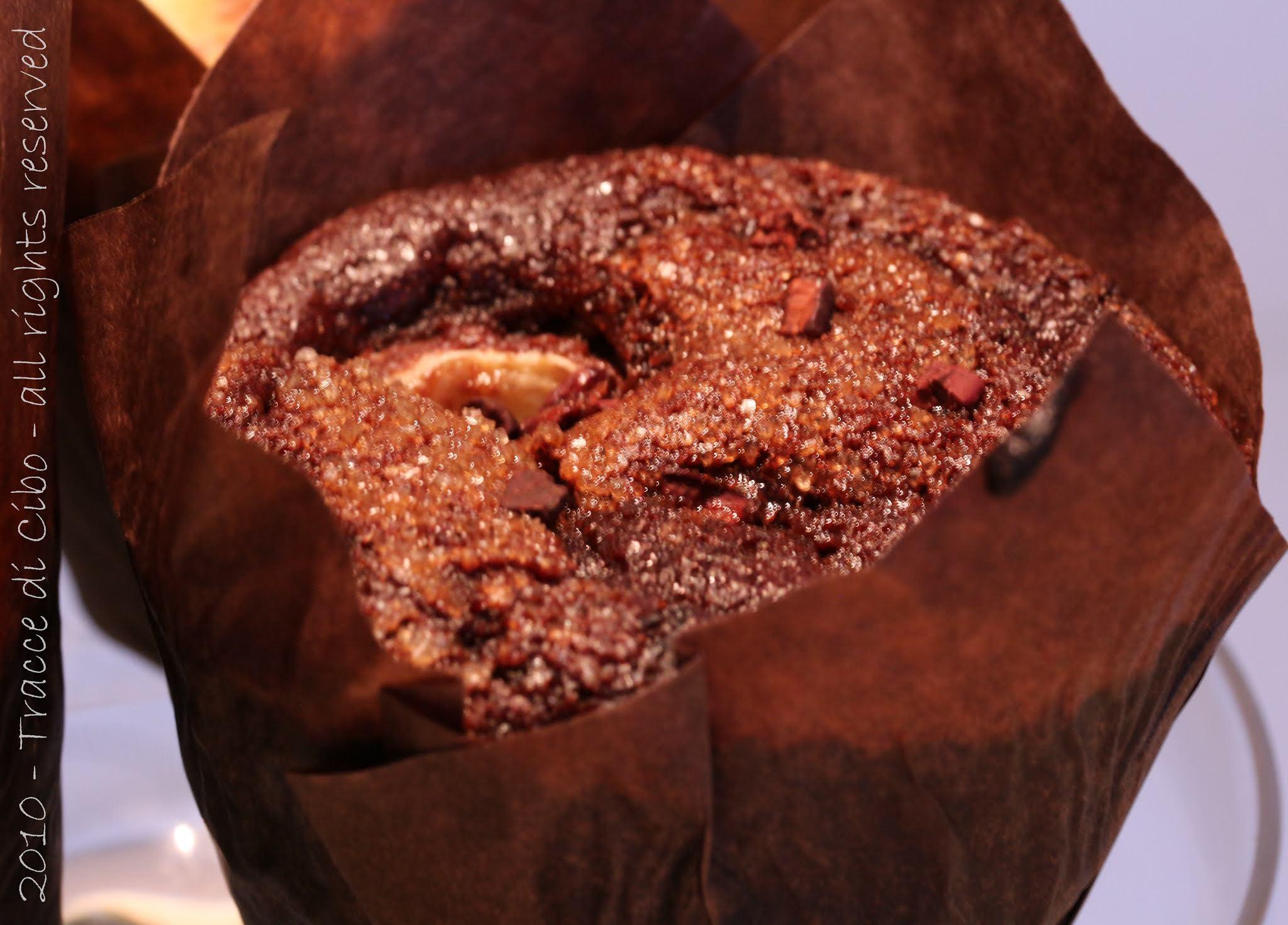 muffin gluten free, cioccolato, banana
