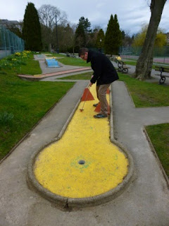 Crazy Golf course at Valley Gardens in Harrogate in March 2014