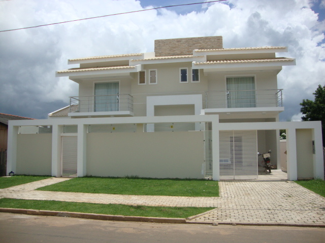 Construindo minha casa clean fachadas muros grades e - Pintado de fachadas ...