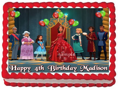 Elena of Avalor customized edible cake topper