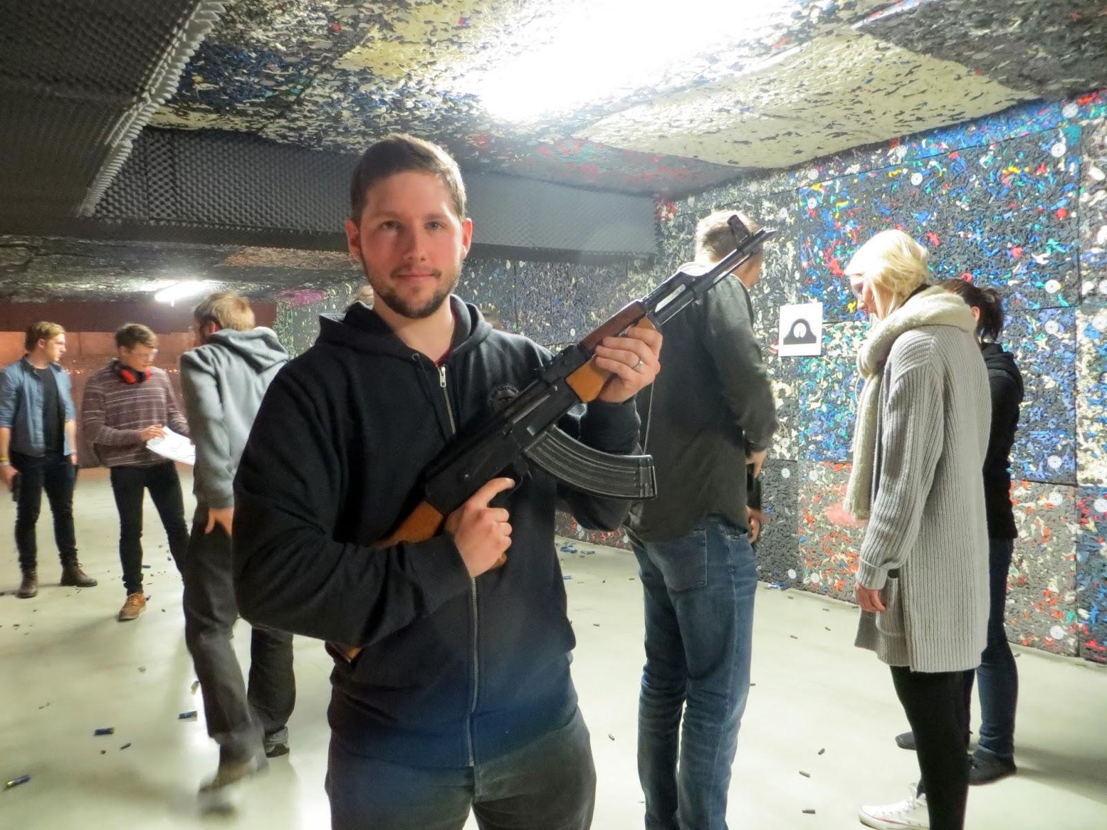 AK47, Shooting range, pistol, Ruger Mk III, GLOCK 17, Revolvers, Ceska Zbrojovka, Grand Taurus 86, Rifles, Kalashnikov (AK-47), Remington 870, Shotgun, Weapons, Dragunov, (SVD), Sniper Rifle, celeritas shooting club, eastern europe, hungary, budapest, bucket list, travel, travelling, traveling, experiences, gun, shooting, adventure, travel blog,