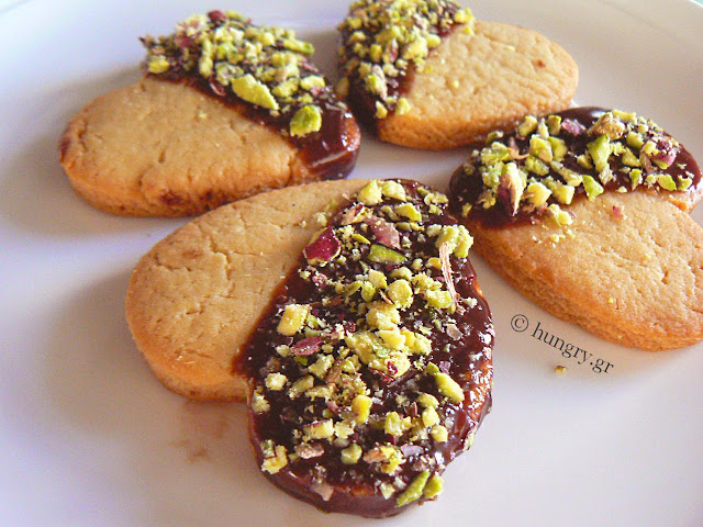 Cookies Dipped in Chocolate