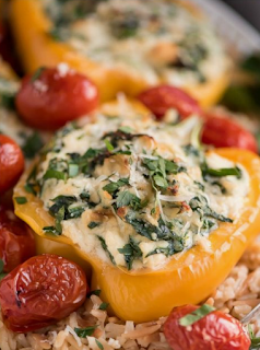 Spinach Ricotta Stuffed Peppers