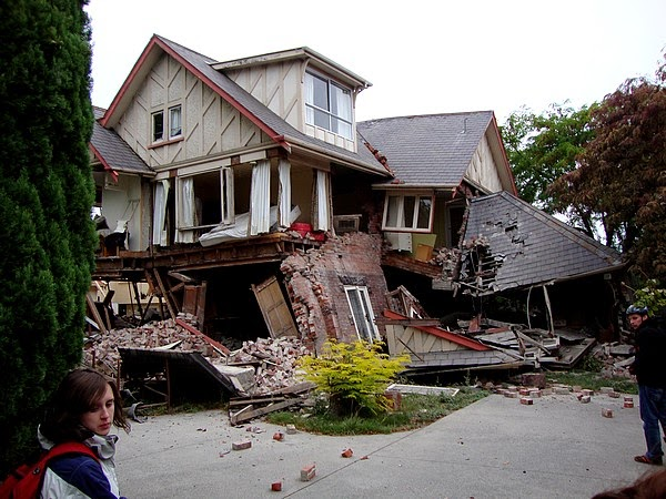Damage from earthquake in New Zealand