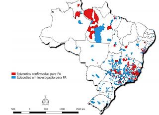 Mapa febre amarela