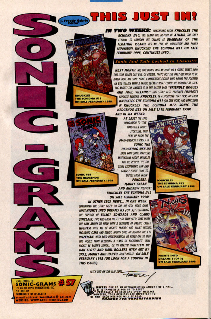 Read online Sonic The Hedgehog comic -  Issue #57 - 27